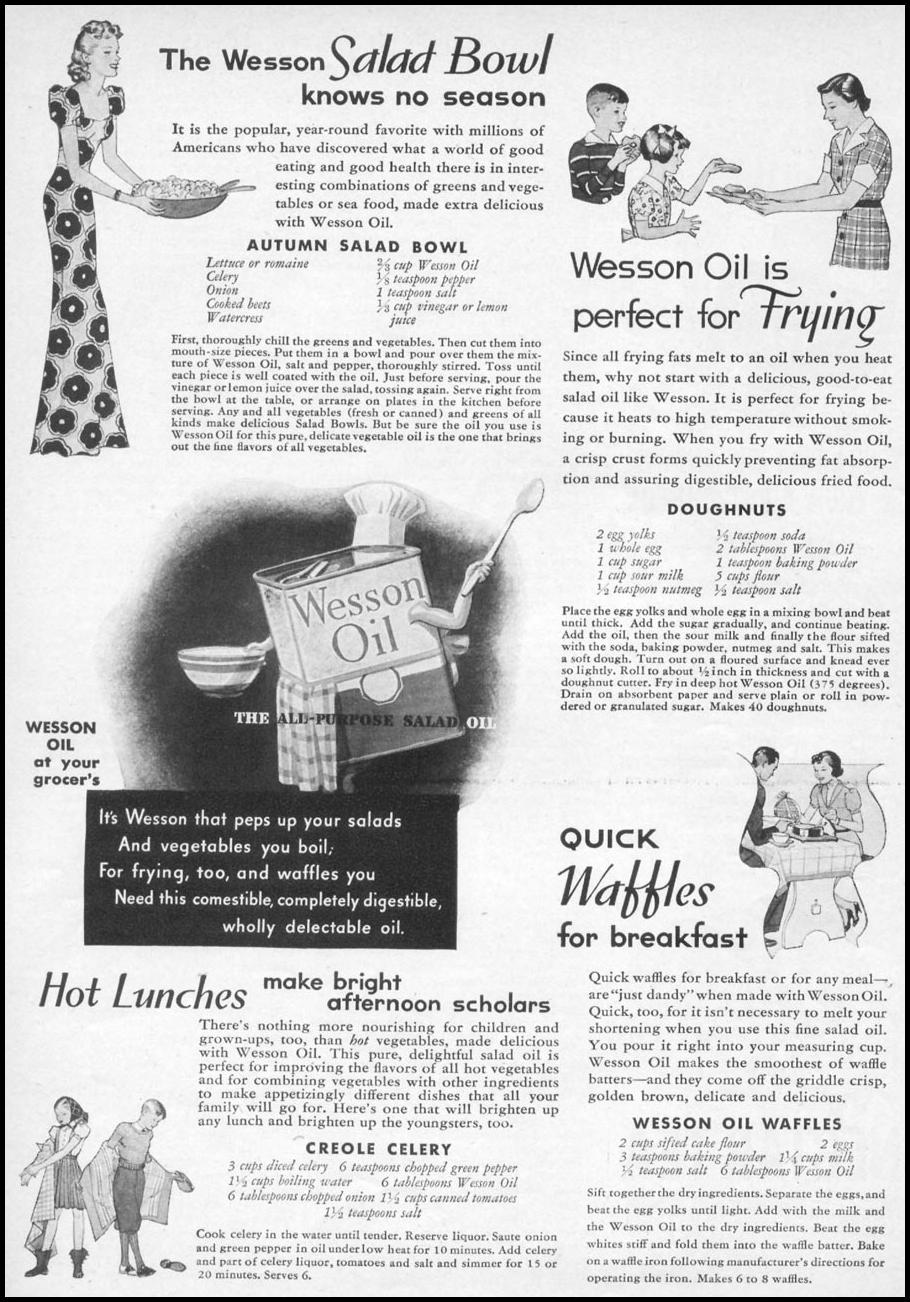 WESSON OIL WOMAN'S DAY 11/01/1938 p. 39