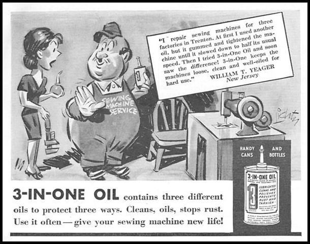 3-IN-ONE OIL GOOD HOUSEKEEPING 04/01/1936 p. 257