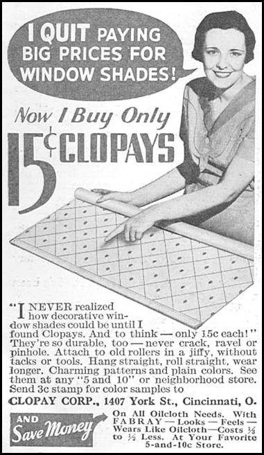 CLOPAY WINDOW SHADES GOOD HOUSEKEEPING 06/01/1935 p. 214