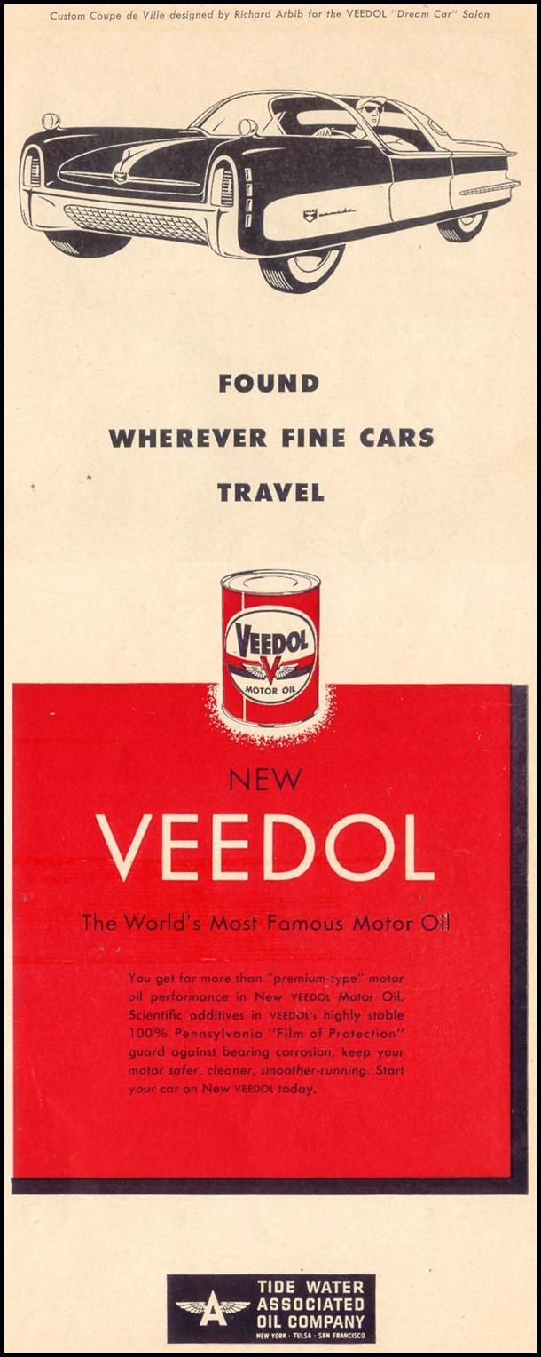 VEEDOL MOTOR OIL LIFE 07/30/1951 p. 53