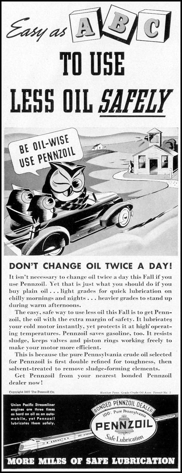 PENNZOIL MOTOR OIL LIFE 09/06/1937 p. 96