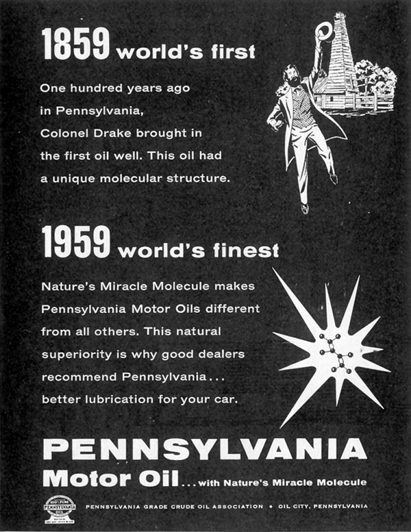 PENNSYLVANIA MOTOR OIL SATURDAY EVENING POST 05/02/1959 p. 104