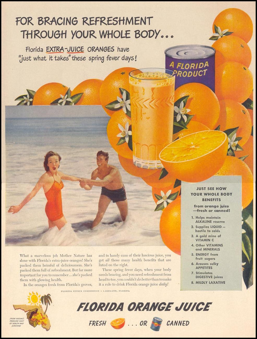 FLORIDA ORANGE JUICE LIFE 04/17/1950 p. 106