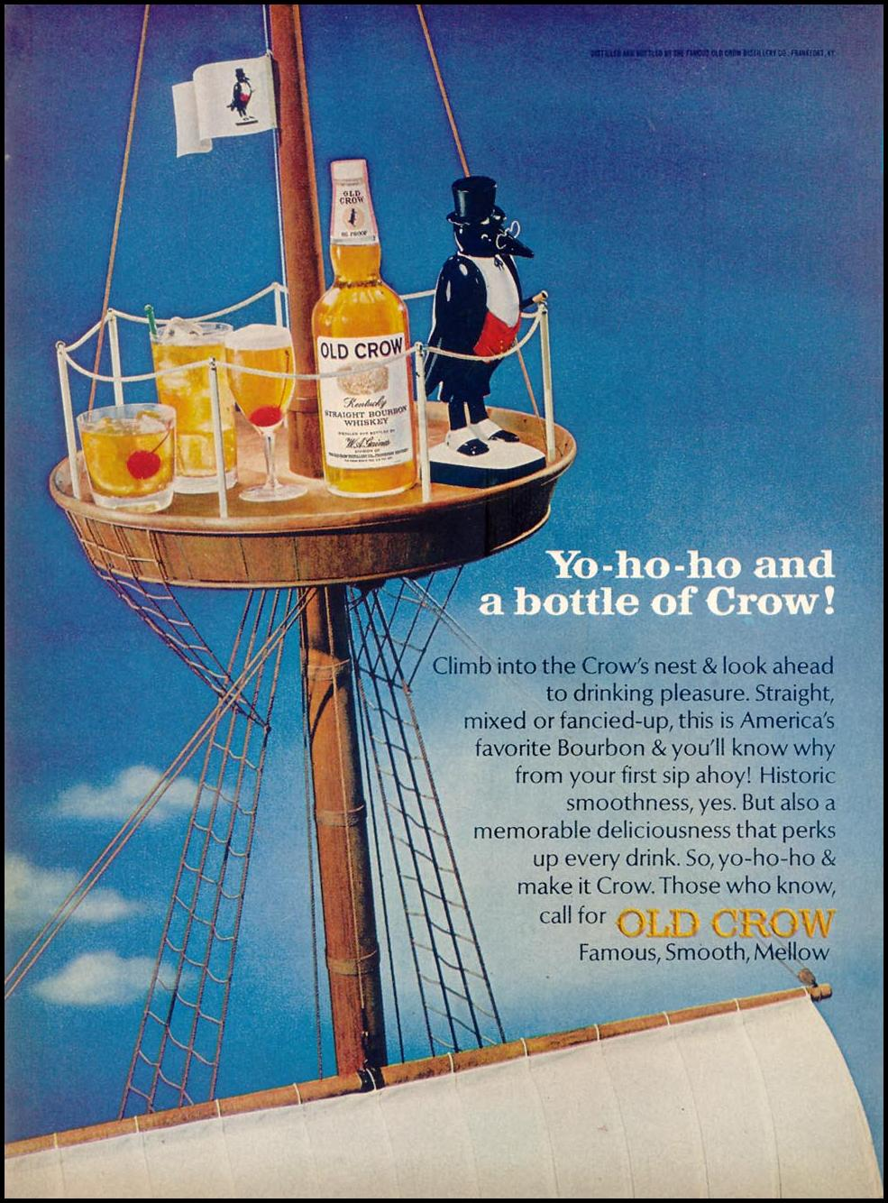 OLD CROW BOURBON WHISKEY TIME 03/11/1966 p. 92