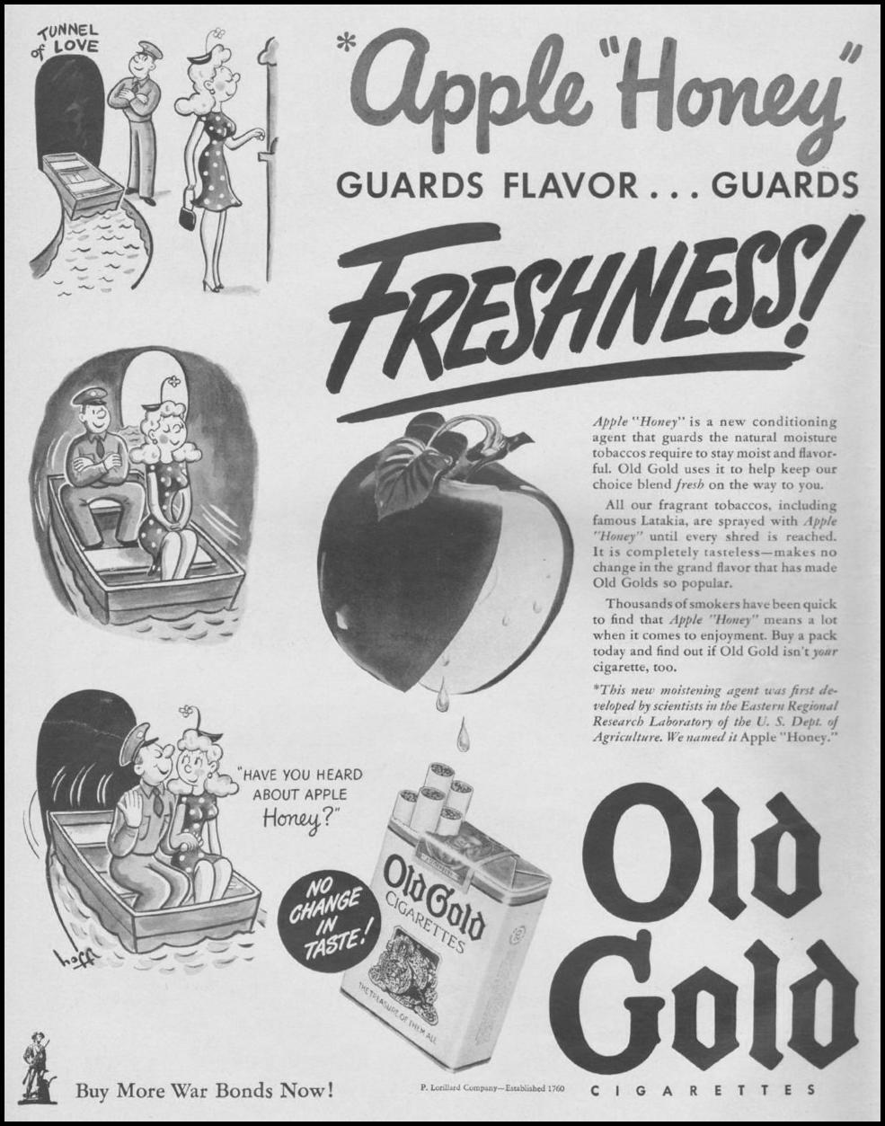 OLD GOLD CIGARETTES LIFE 08/09/1943 p. 68