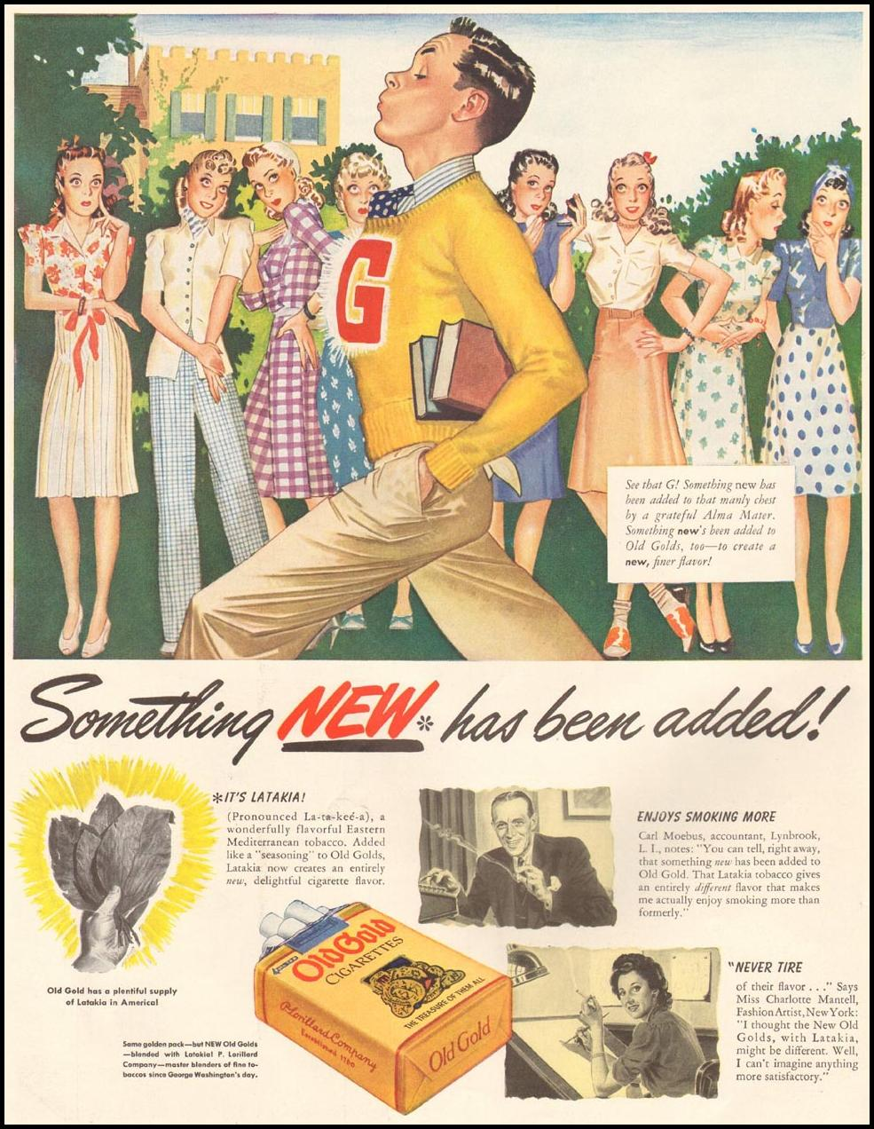 OLD GOLD CIGARETTES LIFE 09/29/1941