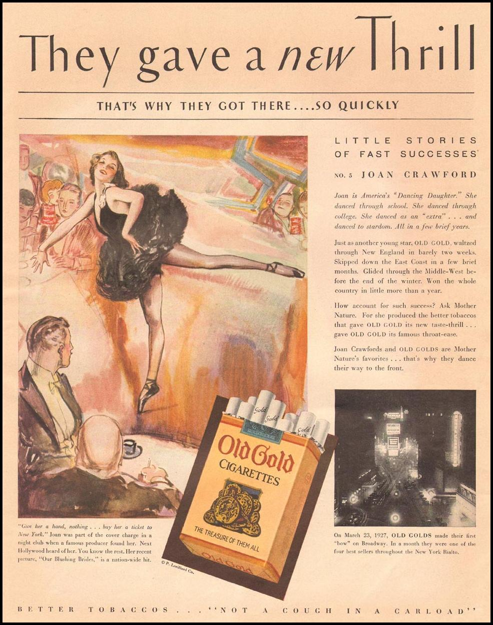 OLD GOLD CIGARETTES THE HOME MAGAZINE 12/01/1930 p. 29