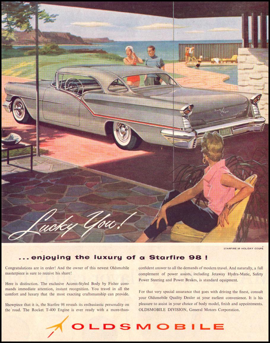 OLDSMOBILE AUTOMOBILES LIFE 04/08/1957 p. 99