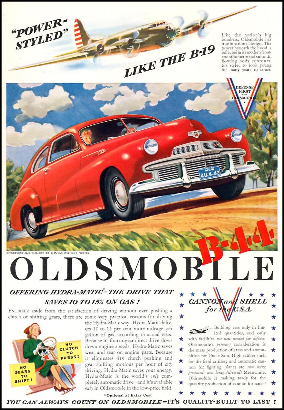 OLDSMOBILE AUTOMOBILES TIME 01/12/1942 p. 55