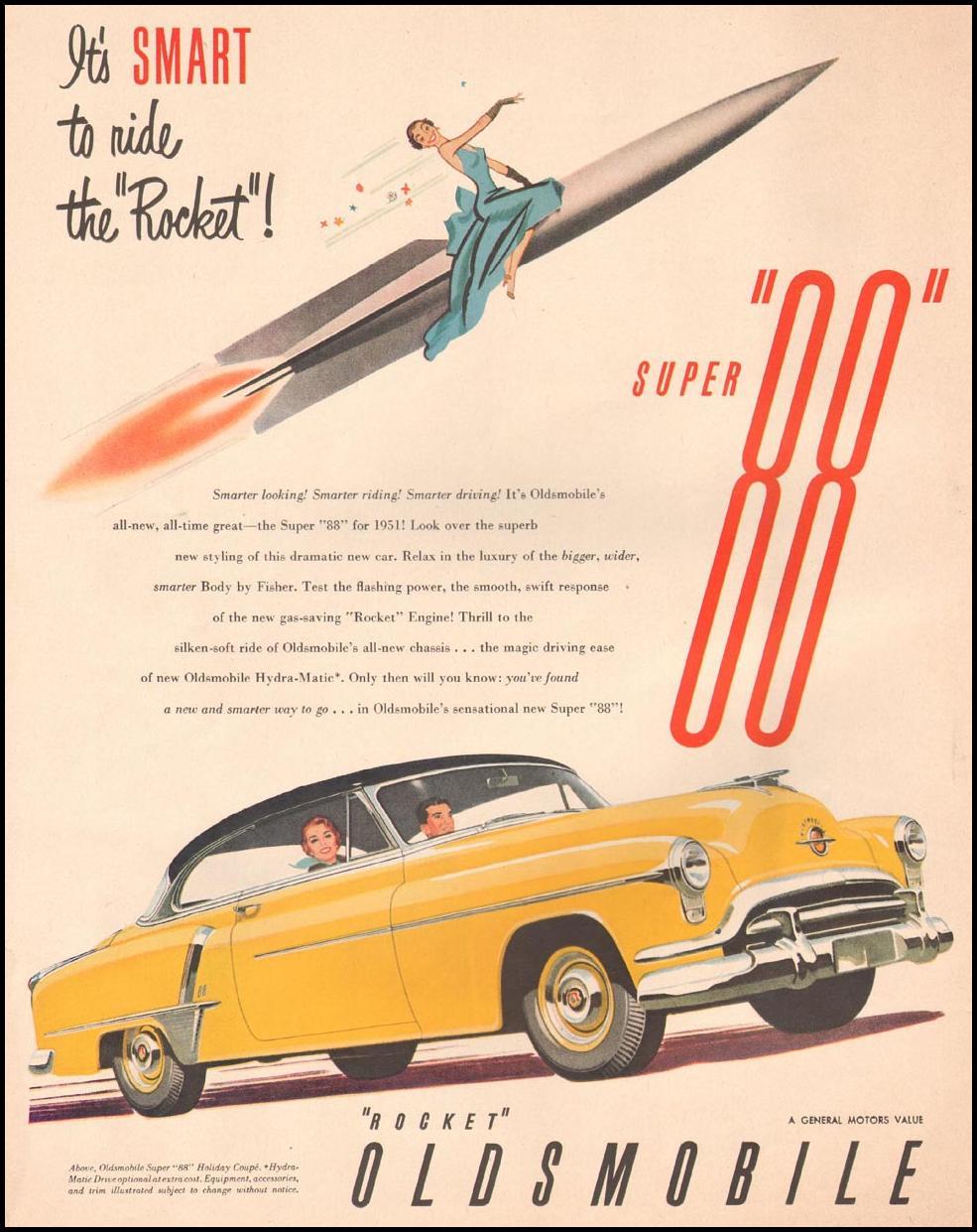 OLDSMOBILE AUTOMOBILES LIFE 07/02/1951 p. 54