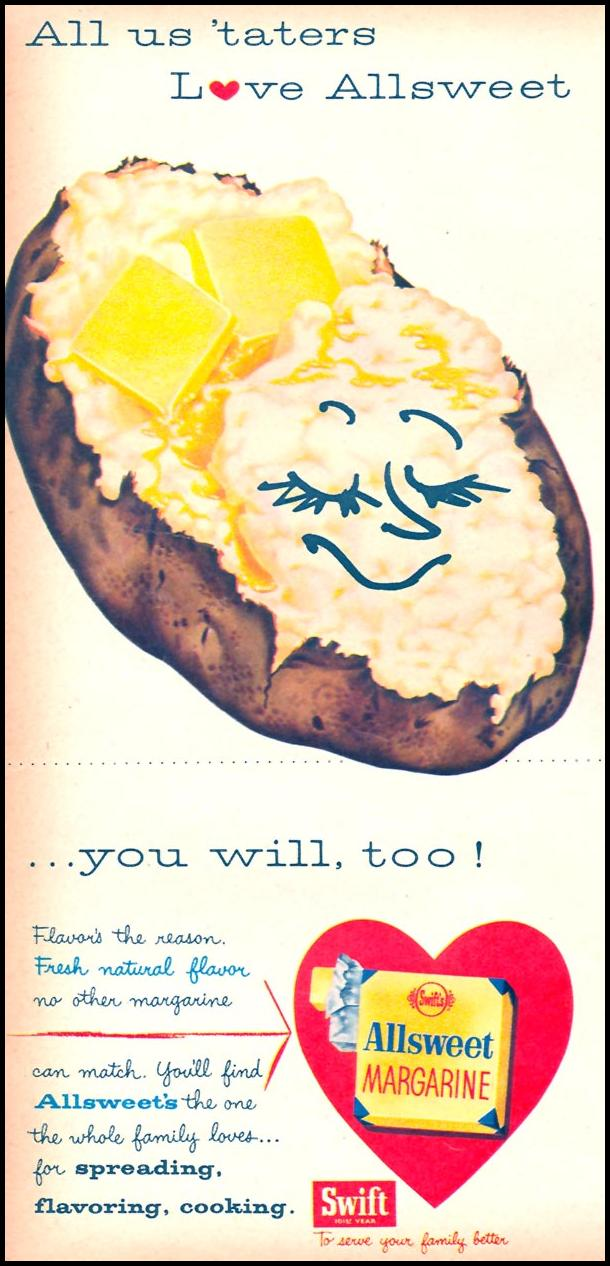 SWIFT'S ALLSWEET MARGARINE FAMILY CIRCLE 02/01/1956 p. 14