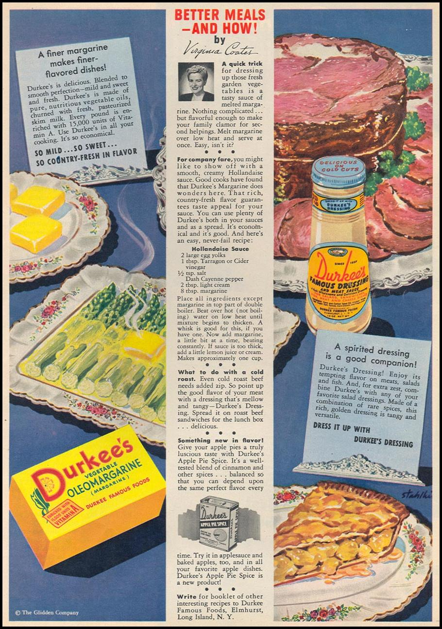 DURKEE FAMOUS FOODS WOMAN'S DAY 05/01/1947 p. 23
