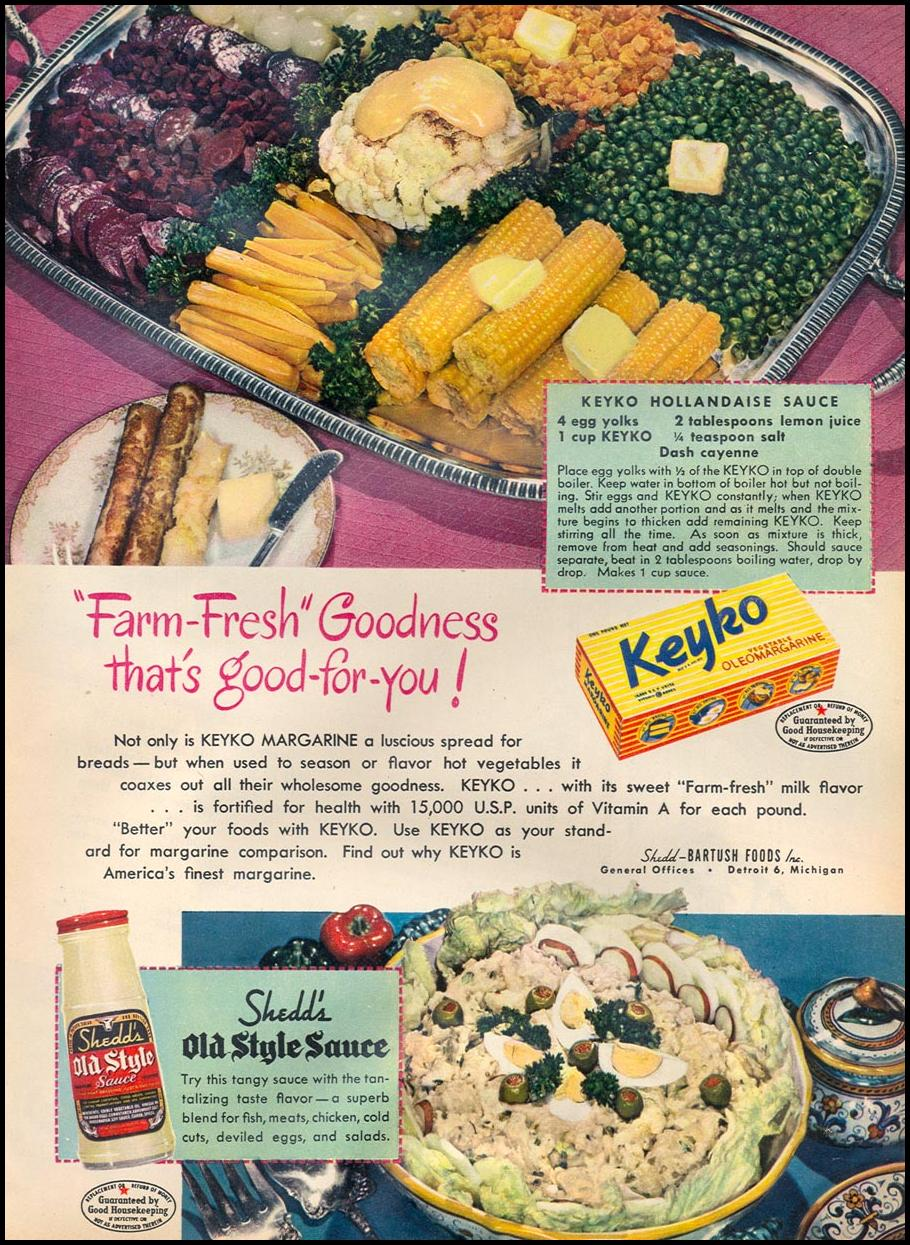 KEYKO MARGARINE WOMAN'S DAY 05/01/1947
