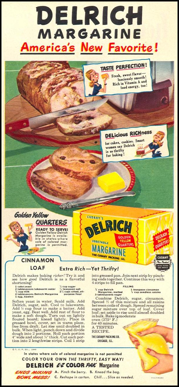DELRICH MARGARINE WOMAN'S DAY 08/01/1949 p. 13