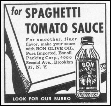 BON OLIVE OIL WOMAN'S DAY 05/01/1947 p. 116