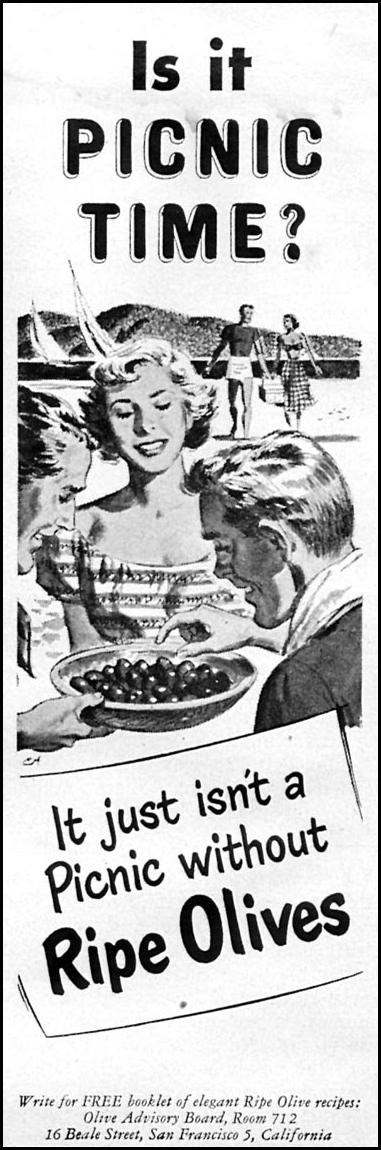 CALIFORNIA RIPE OLIVES WOMAN'S DAY 06/01/1950 p. 112