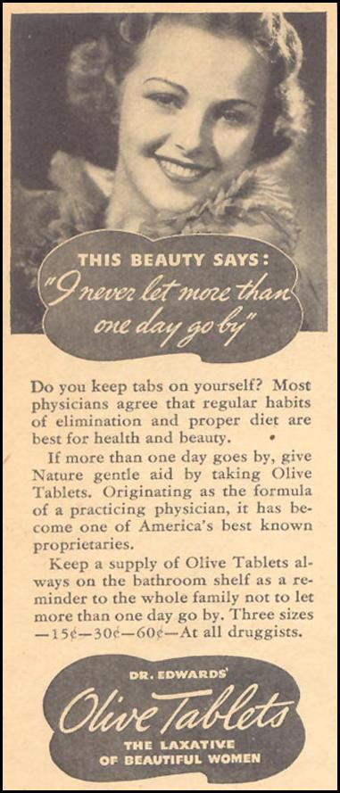 DR. EDWARDS' OLIVE TABLETS LIBERTY 11/28/1936 p. 34