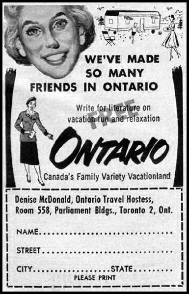 ONTARIO VACATIONS GOOD HOUSEKEEPING 05/01/1957 p. 241