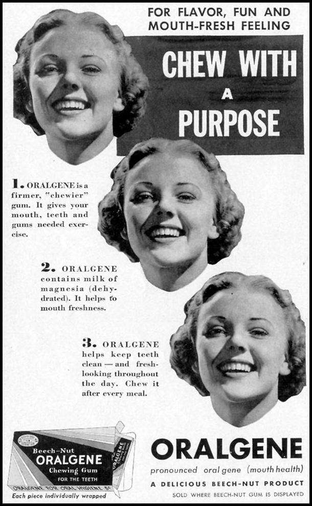 ORALGENE CHEWING GUM LIFE 09/20/1937 p. 106