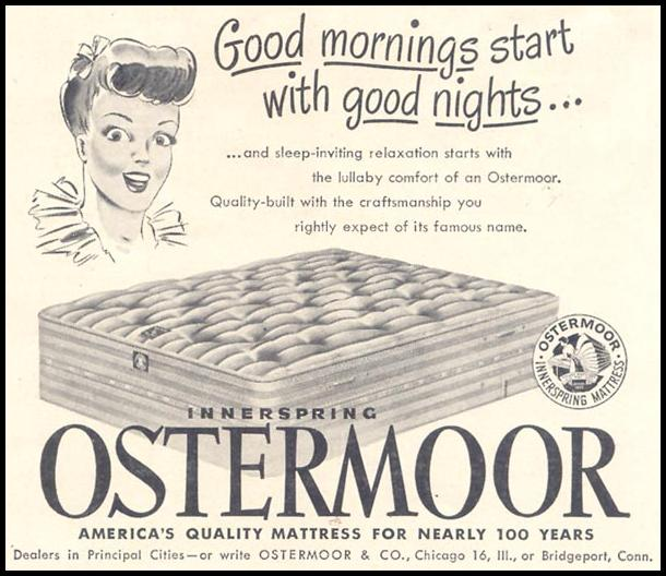 OSTERMOOR MATTRESS GOOD HOUSEKEEPING 07/01/1949 p. 179