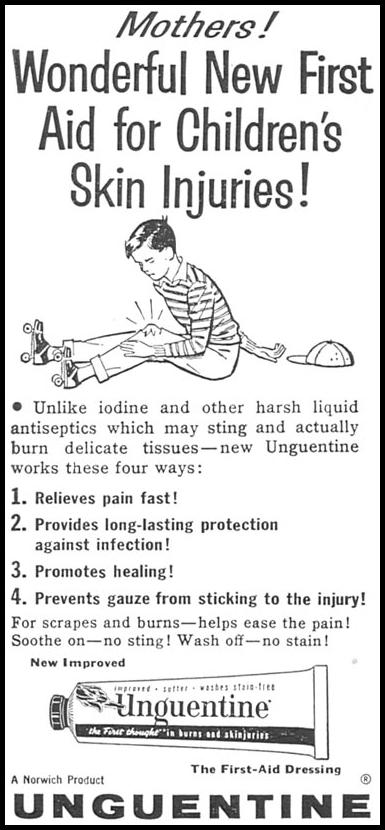 UNGUENTINE FIRST-AID DRESSING WOMAN'S DAY 09/01/1955 p. 126