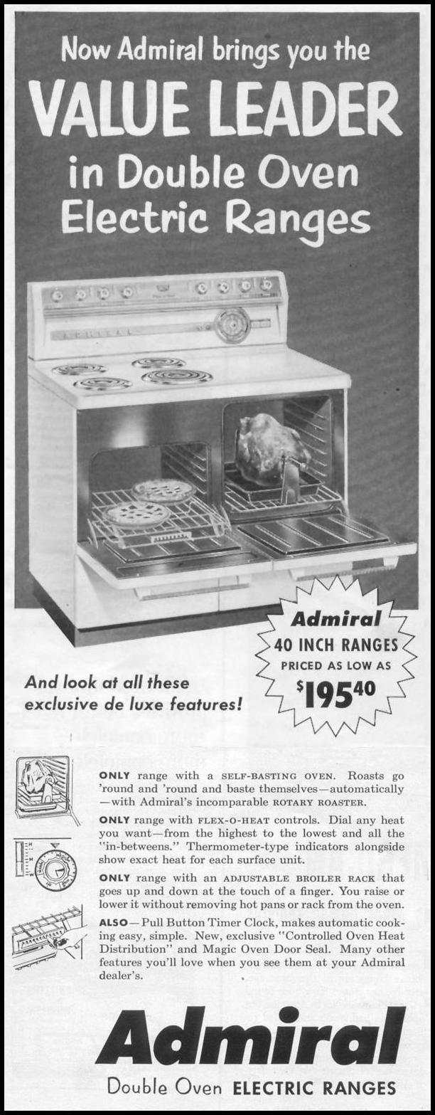 DOUBLE OVEN ELECTRIC RANGES LIFE 07/12/1954 p. 36