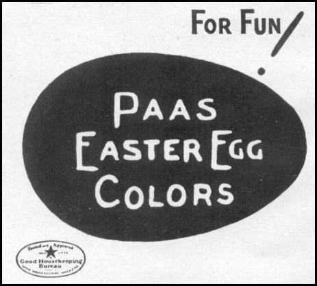 PAAS EASTER EGG DYES WOMAN'S DAY 04/01/1941 p. 58