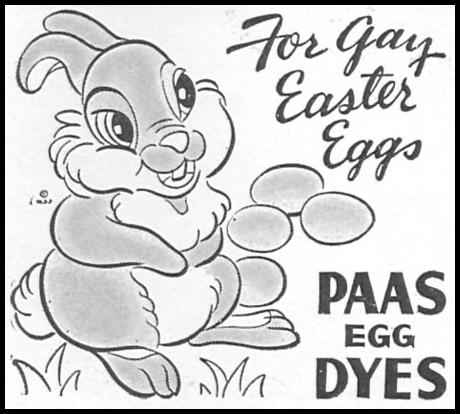 PAAS EASTER EGG DYES WOMAN'S DAY 04/01/1943 p. 60