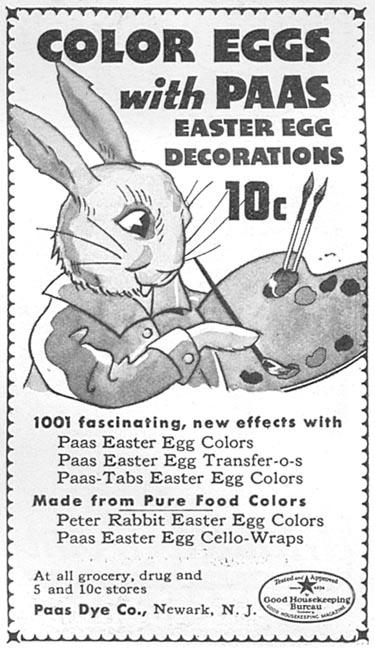 PAAS EASTER EGG DYES GOOD HOUSEKEEPING 04/01/1936 p. 239