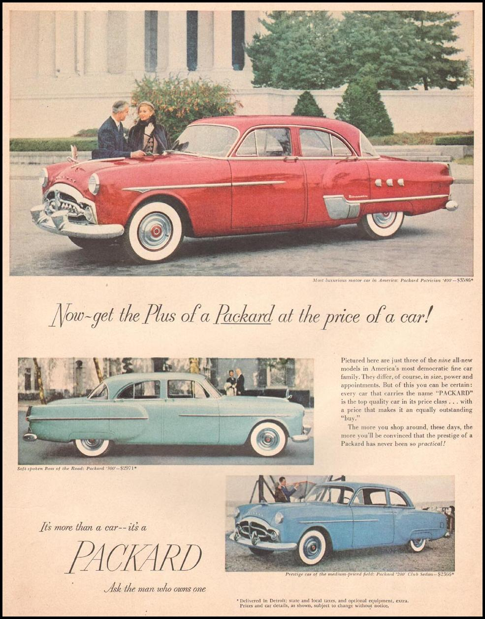 PACKARD AUTOMOBILES LIFE 10/01/1951
