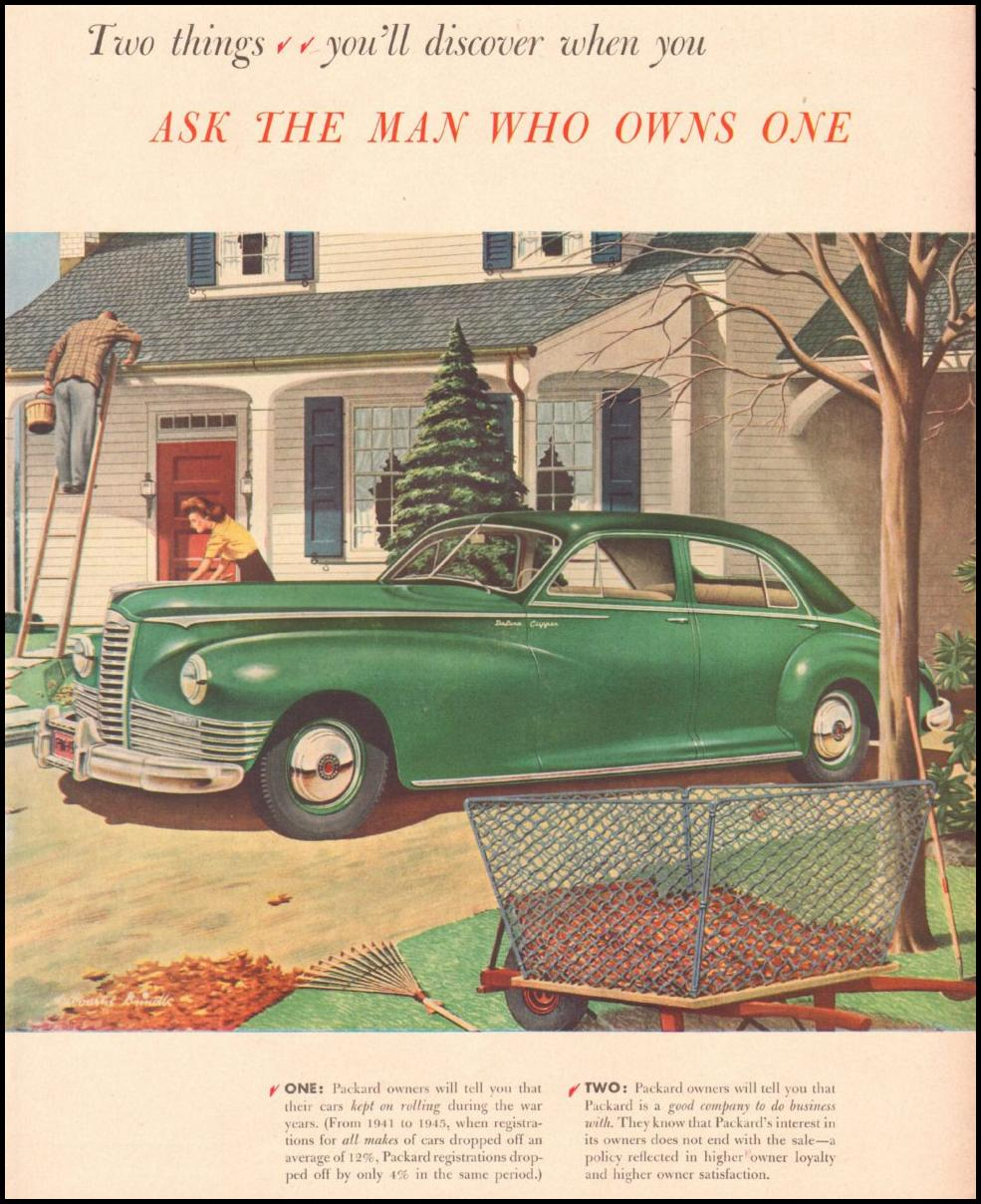PACKARD AUTOMOBILES LIFE 11/25/1946