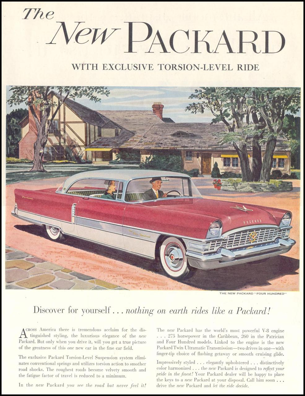 PACKARD AUTOMOBILES SATURDAY EVENING POST 04/09/1955