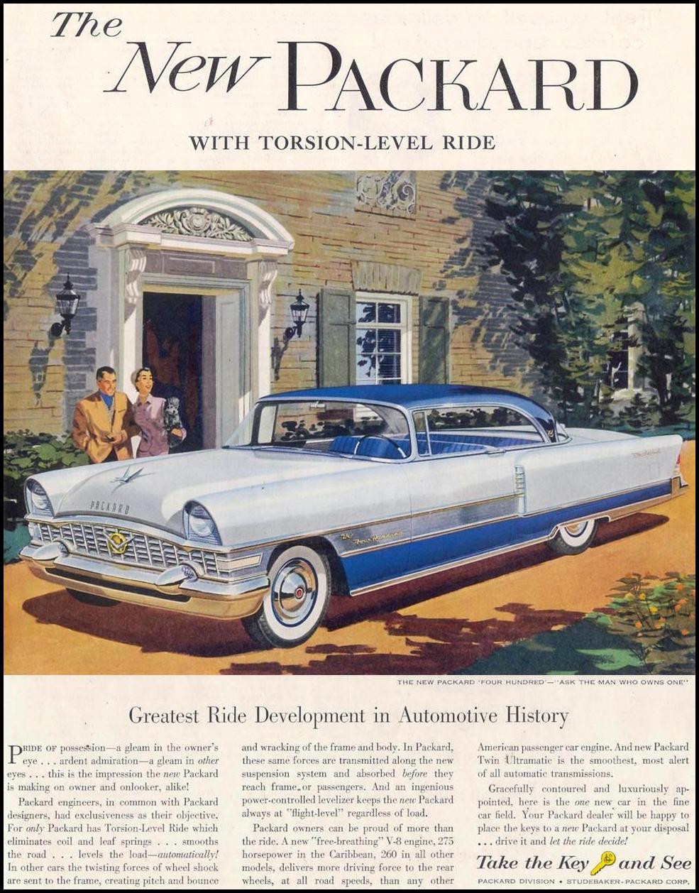 PACKARD AUTOMOBILES SATURDAY EVENING POST 06/04/1955 p. 5