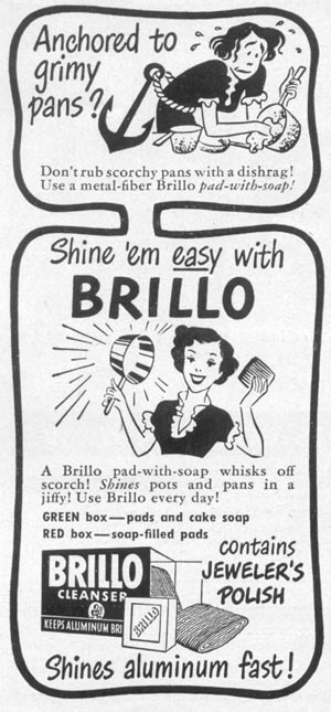 BRILLO SOAP PADS WOMAN'S DAY 12/01/1948 p. 92