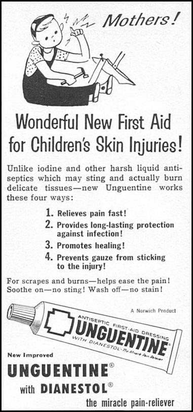 UNGUENTINE FIRST-AID DRESSING WOMAN'S DAY 04/01/1956 p. 112
