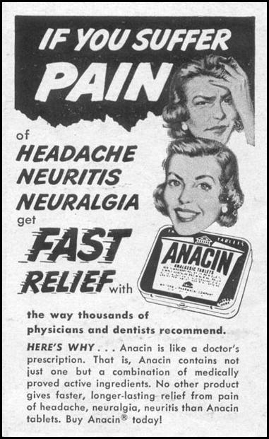 ANACIN ANALGESIC TABLETS LIFE 07/12/1954