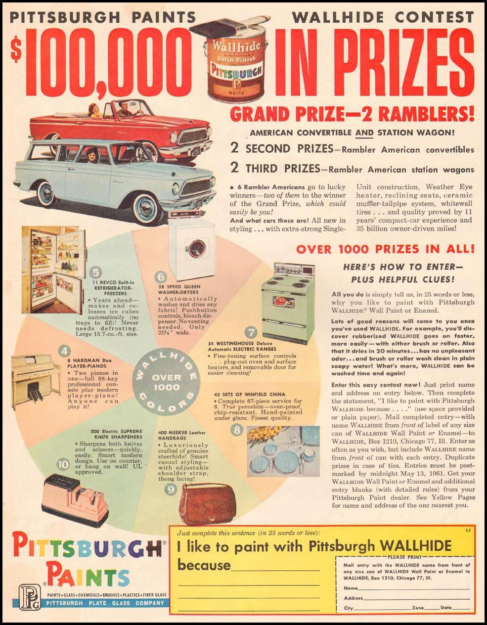 PITTSBURGH PAINTS LIFE 03/31/1961