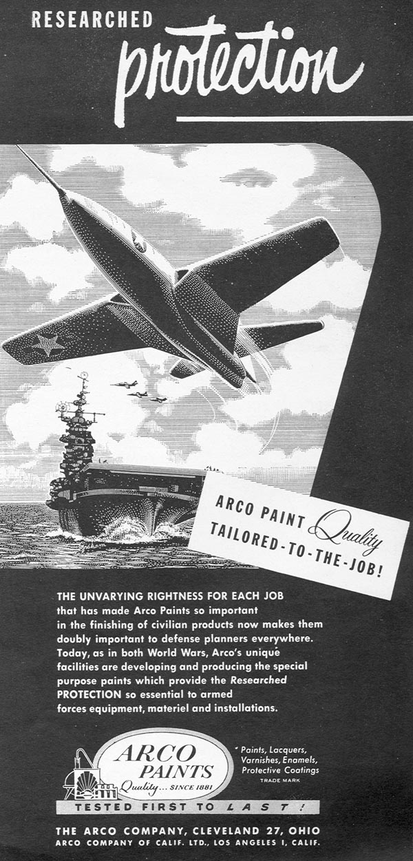 ARCO PAINTS NEWSWEEK 06/11/1951 p. 71