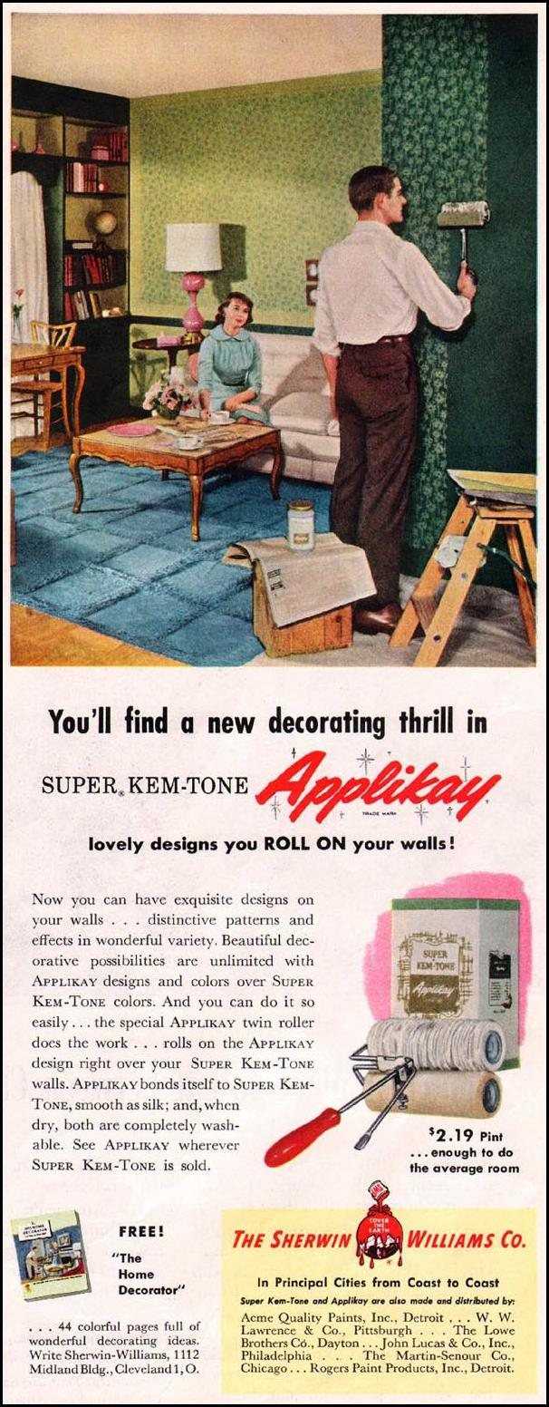 SUPER KEM-TONE APPLIKAY PAINT APPLICATOR SATURDAY EVENING POST 03/26/1955 p. 117