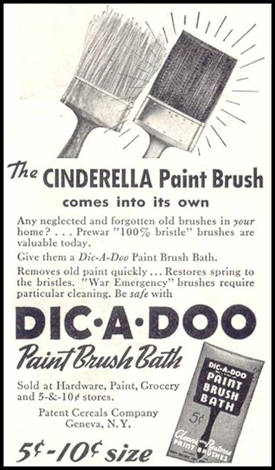 DIC-A-DOO PAINT BRUSH BATH SATURDAY EVENING POST 05/19/1945 p. 84