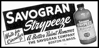 SAVOGRAN STRYPEEZE SATURDAY EVENING POST 05/19/1945 p. 98