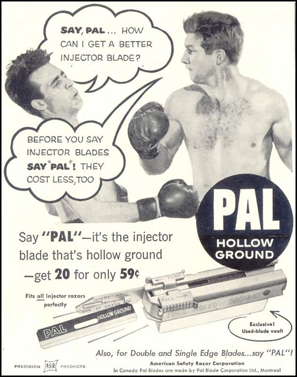 PAL INJECTOR RAZOR BLADES LIFE 10/29/1955 p. 124