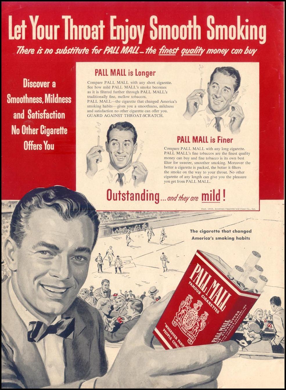 PALL MALL CIGARETTES LIFE 09/07/1953 p. 50