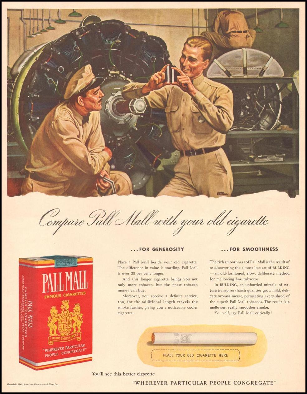PALL MALL CIGARETTES LIFE 12/16/1940 p. 79