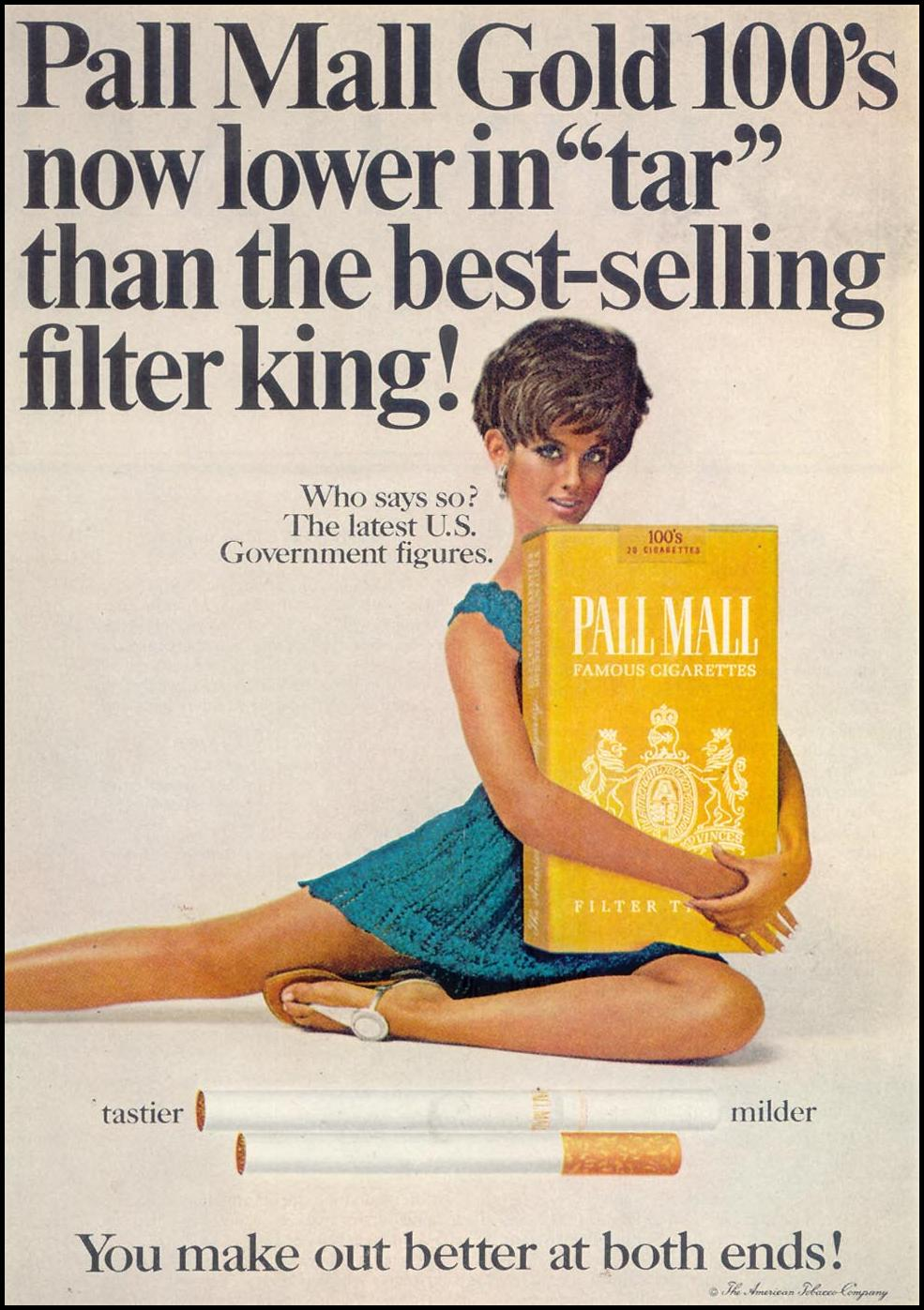 PALL MALL CIGARETTES SATURDAY EVENING POST 01/25/1969 p. 17
