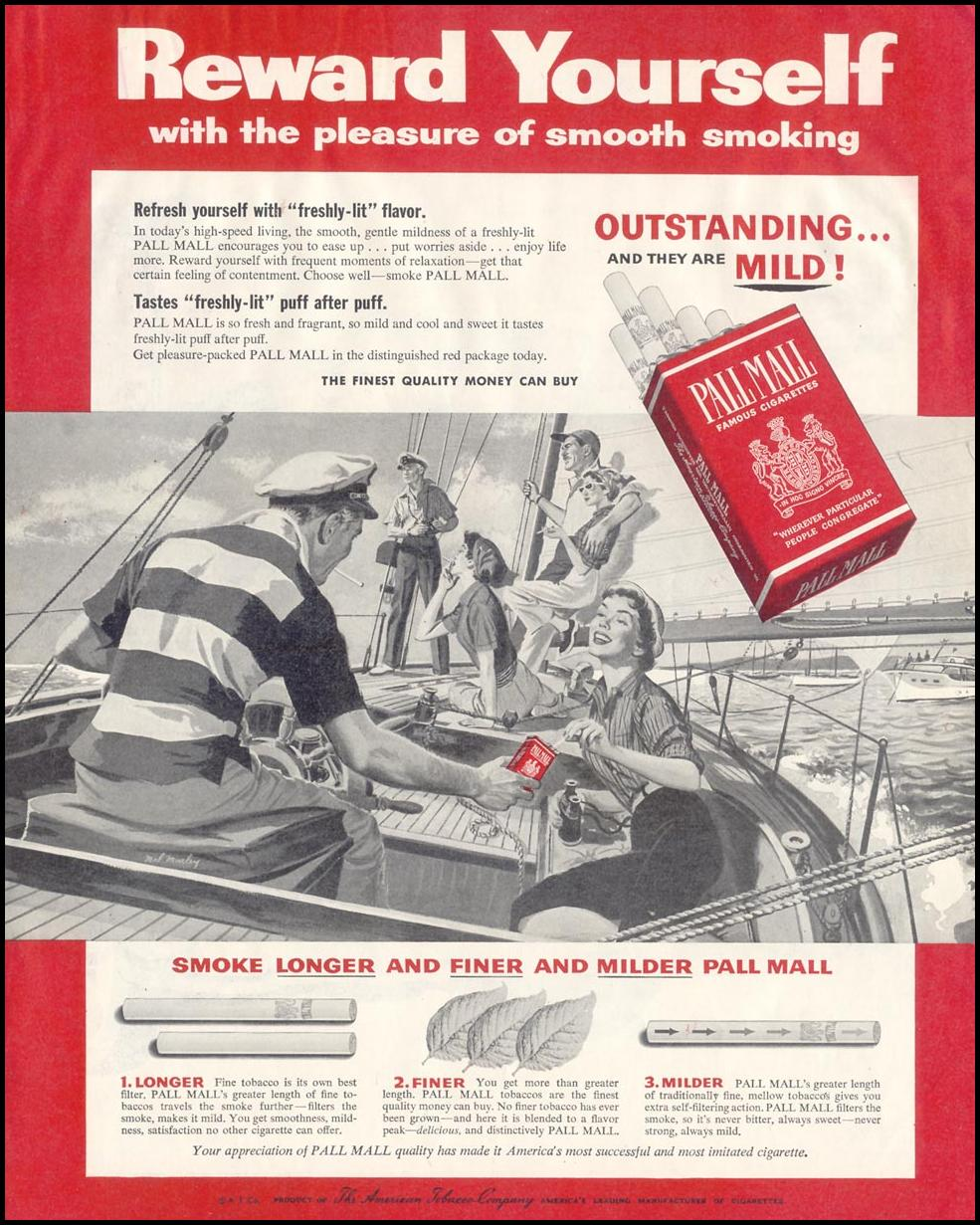 PALL MALL CIGARETTES SATURDAY EVENING POST 09/03/1955