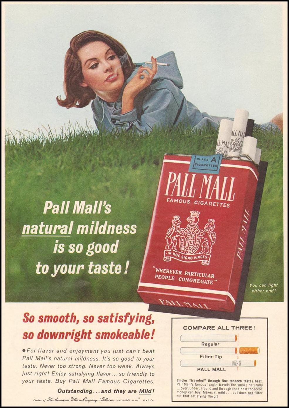 PALL MALL CIGARETTES TIME 10/04/1963 p. 46