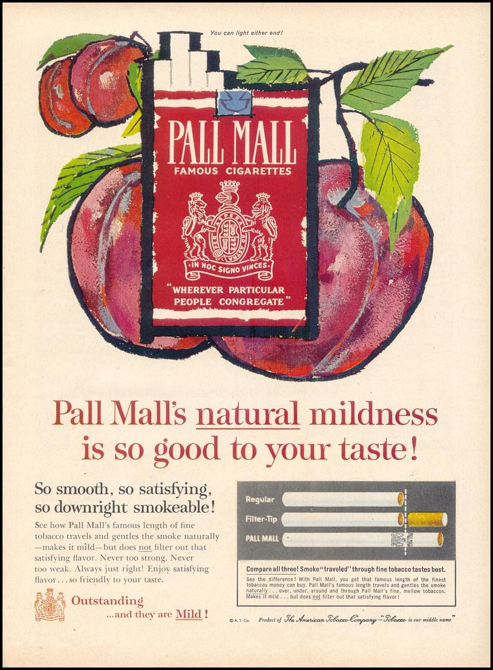 PALL MALL CIGARETTES TIME 11/17/1961