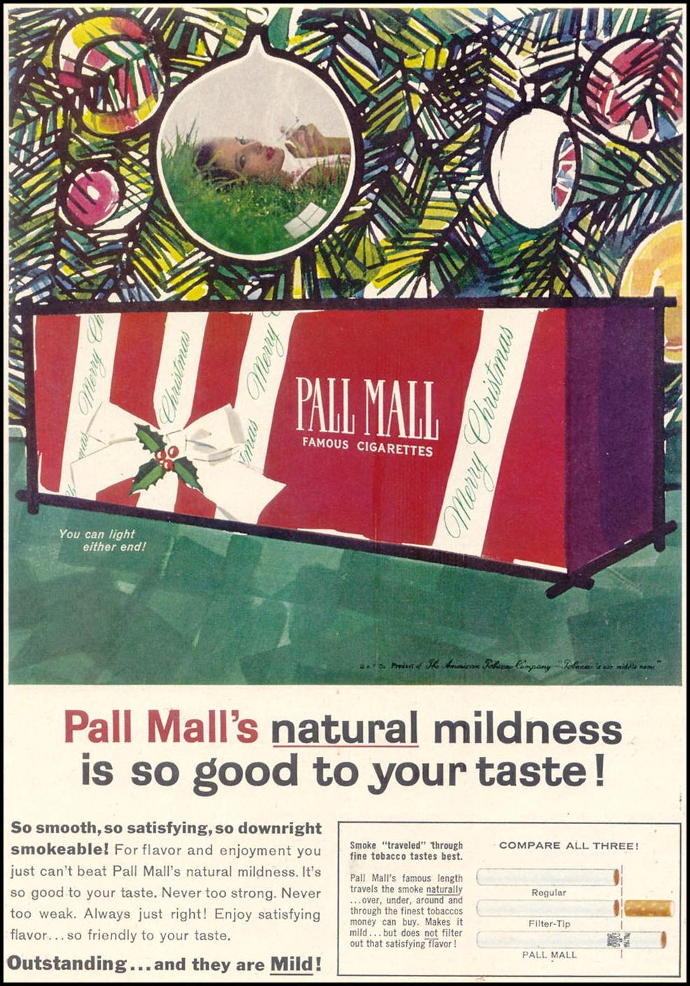 PALL MALL CIGARETTES TIME 12/07/1962 p. 28