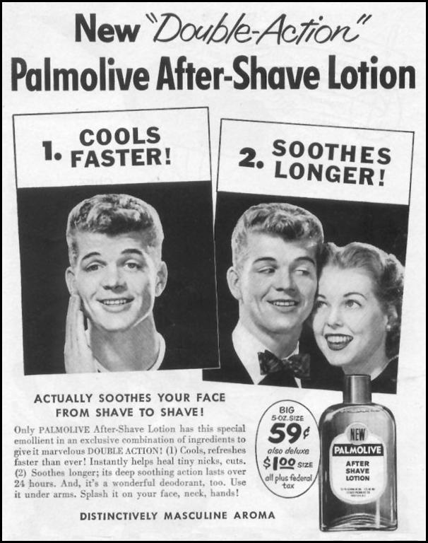 PALMOLIVE AFTER-SHAVE LOTION LIFE 07/12/1954 p. 106